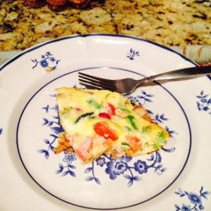 Gluten Free Lady Quick Left over Potato Veggie Omelet