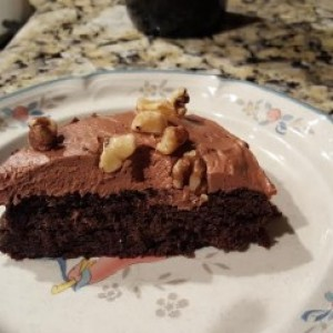 Flourless Gluten Free Black Bean Chocolate Cake with Butter Cream Cheese Frosting
